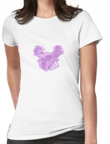Mickey Splash Womens Fitted T-Shirt