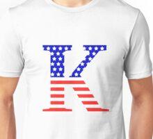 Kappa Symbol American Flag Design Unisex T-Shirt