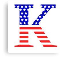 Kappa Symbol American Flag Design Canvas Print