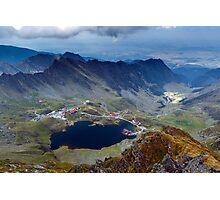 Aerial view of Balea Lake Photographic Print