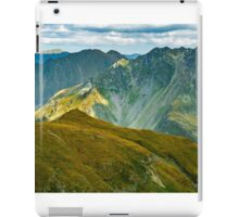 Mountain range at sunset iPad Case/Skin