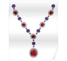 Swirl Necklace Poster