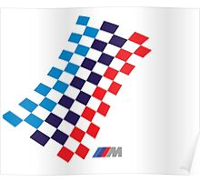 BMW M checkered design Poster