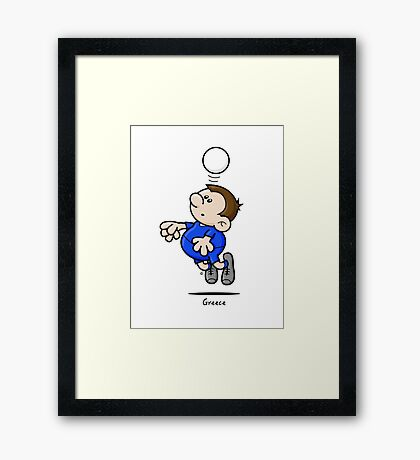 2014 World Cup - Greece Framed Print