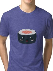 Kawaii Sushi with Salmon Tri-blend T-Shirt