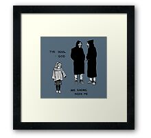 The Devil & God Are Raging Inside Me Framed Print
