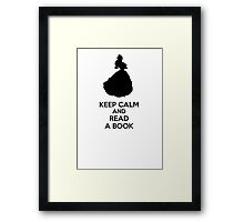 Keep Calm And Read A Book Framed Print