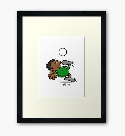 2014 World Cup - Nigeria Framed Print
