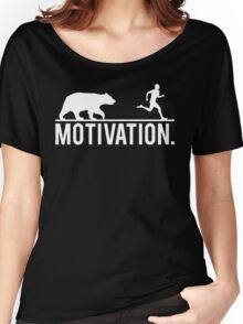 MOTIVATION (Bear Chasing Runner) Women's Relaxed Fit T-Shirt