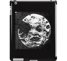 From the Earth to the moon moon with rocket in the eye pen and ink sketchh iPad Case/Skin