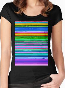 Sunset Glitch Women's Fitted Scoop T-Shirt