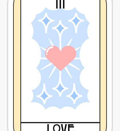Love (Tarot Card III) Sticker