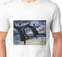 seabirds drying after the storm Unisex T-Shirt