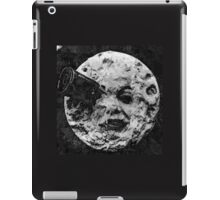 From the Earth to the moon moon with rocket in the eye oil painting iPad Case/Skin