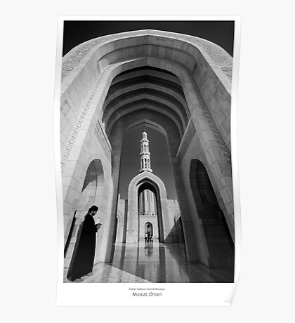 Grand Mosque, Muscat, Oman Poster