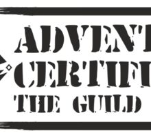 Certified By The Guild of Hunters HORIZONTAL Sticker