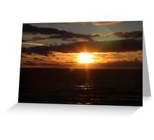 Gulf St Vincent sunset Greeting Card