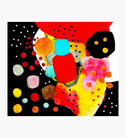 Black Abstract Handmade Art Photographic Print