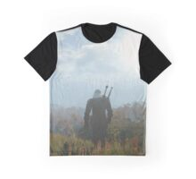 Witcher 3 The Wild Wolf Landscape Graphic T-Shirt