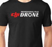 DJI Drone Professional Pilot Black Unisex T-Shirt