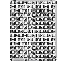 seamless pattern with hand drawn squares and dots, black and white iPad Case/Skin