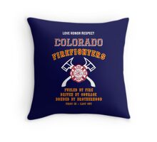 Colorado Firefighters Throw Pillow
