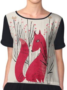 Fox in Shrub Chiffon Top