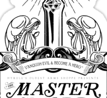 Legend of Zelda Master Sword Advertisement Sticker