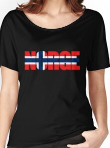 Norway Norge Flag Women's Relaxed Fit T-Shirt
