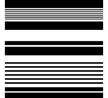 black and white horizontal stripes, fashion texture. Photographic Print