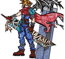 Cloud Strife by Pandora's  Scribbles