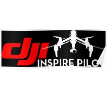 DJI inspire pilot black Poster