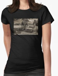Two Larks And A Lake Womens Fitted T-Shirt