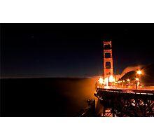 Good Night Golden Gate Photographic Print