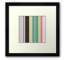 Seamless striped pattern with grunge stripe texture Framed Print