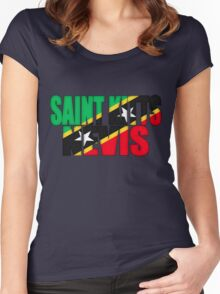 Saint Kitts and Nevis Flag Women's Fitted Scoop T-Shirt