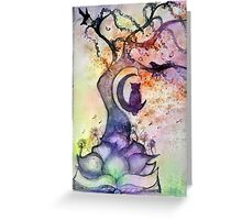 Abstract Willow Tree Greeting Card