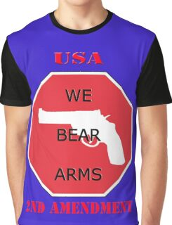 USA- WE BEAR ARMS- 2nd Amendment Graphic T-Shirt