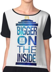 It's Bigger on the Inside - Tardis Galaxy Chiffon Top