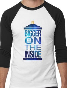 It's Bigger on the Inside - Tardis Galaxy Men's Baseball ¾ T-Shirt