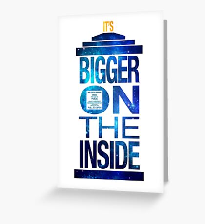 It's Bigger on the Inside - Tardis Galaxy Greeting Card