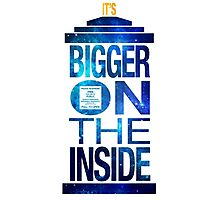 It's Bigger on the Inside - Tardis Galaxy Photographic Print