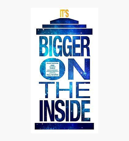 It's Bigger on the Inside - Tardis Galaxy Photographic Print