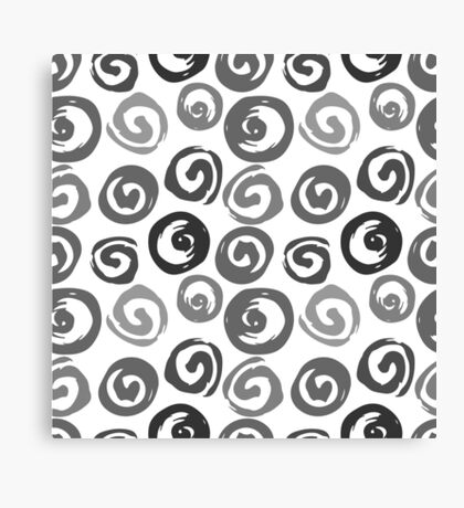 Ink swirls, hand drawn, converted to vector seamless pattern Canvas Print