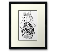 Welsh Witch Framed Print