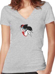 Red Girlie Women's Fitted V-Neck T-Shirt