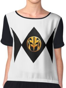 White Power Ranger Chiffon Top