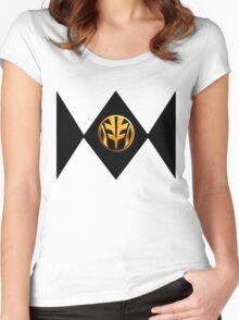 White Power Ranger Women's Fitted Scoop T-Shirt