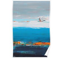 Freedom contemporary abstract art Poster