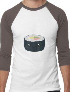 Smiling Sushi with Vegetables Men's Baseball ¾ T-Shirt